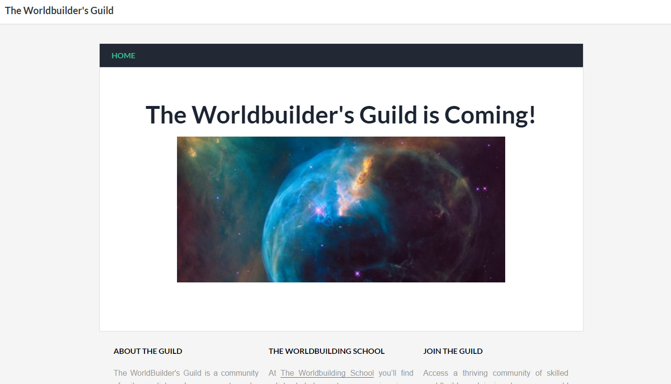 The Worldbuilder's Guild is Coming